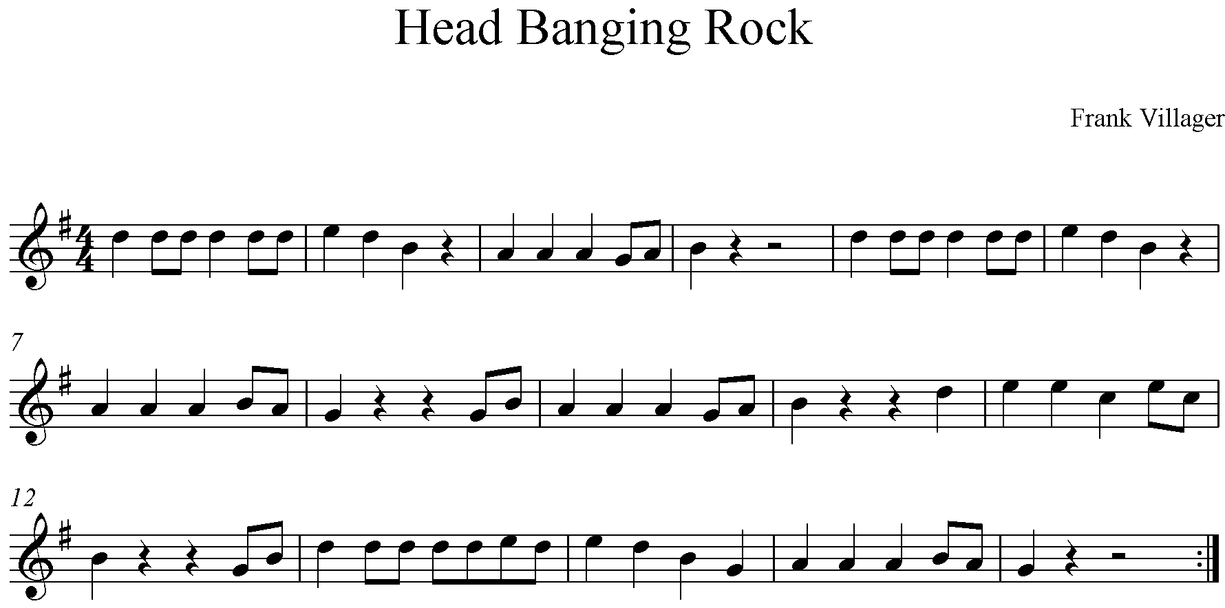 Head Banging Rock